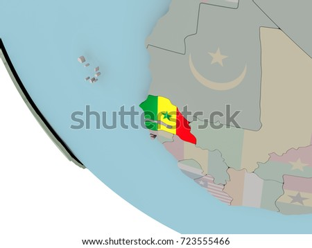 Royalty Free Stock Illustration of Map Senegal On Political ... on