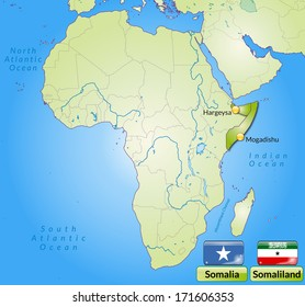 Somalia Map Images, Stock Photos & Vectors | Shutterstock