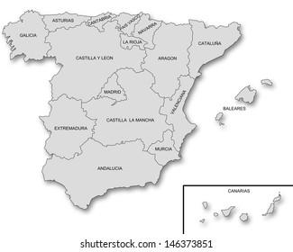 Regional Map Of Spain.Spain Regions Images Stock Photos Vectors Shutterstock