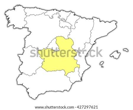 La Mancha Spain Map.Map Spain Castile La Mancha Stock Illustration Royalty Free Stock