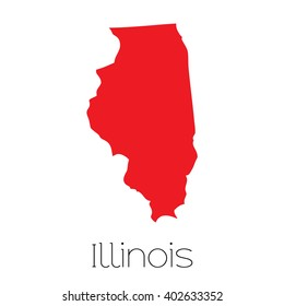 A Map of the the state  Illinois