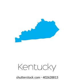 A Map of the the state  Kentucky