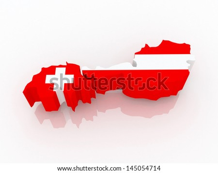 Map Switzerland Austria 3 D Stock Illustration - Royalty Free Stock ...