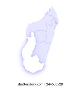 Map of Antananarivo. Madagascar. 3d | EZ Canvas