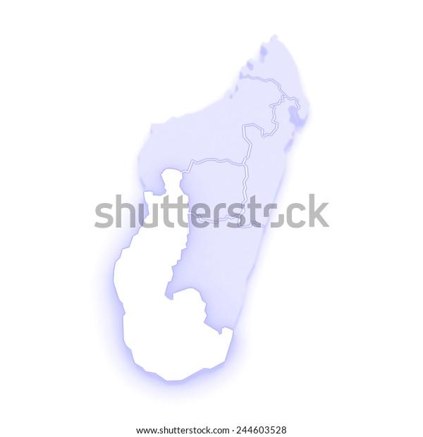Map Toliara Madagascar 3d Stock Illustration 244603528