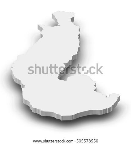 Map Toliara Madagascar 3 D Illustration Stock Illustration - Royalty ...