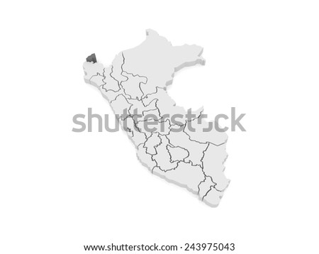 Map Tumbes Peru 3 D Stock Illustration 243975043   Shutterstock