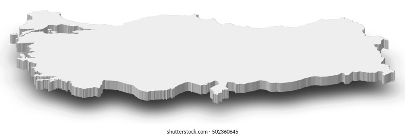 Map - Turkey - 3D-Illustration