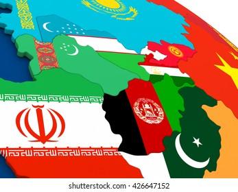 uzbekistan map and surrounding countries