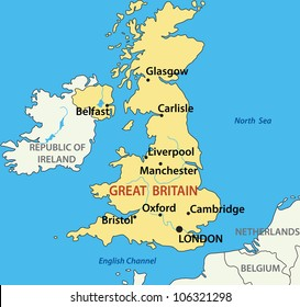 map - United Kingdom of Great Britain and Northern Ireland