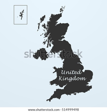 Map United Kingdom Great Britain England Stock Illustration