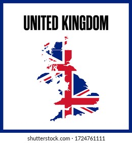 The map of the United Kingdom. UK map.