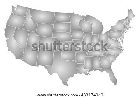 Map United States Washington DC Stock Illustration 433174960 ...