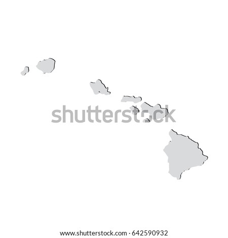 Royalty Free Stock Illustration Of Map Us State Hawaii On White
