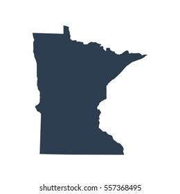 map of the U.S. state of Minnesota .