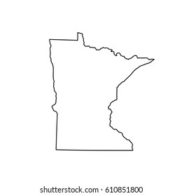Map of the U.S. state Minnesota