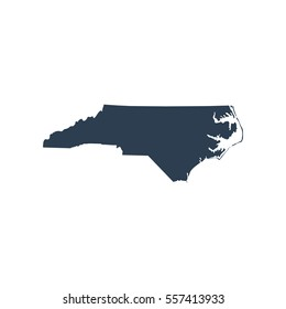 map of the U.S. state of North Carolina.
