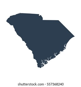 map of the U.S. state of South Carolina .