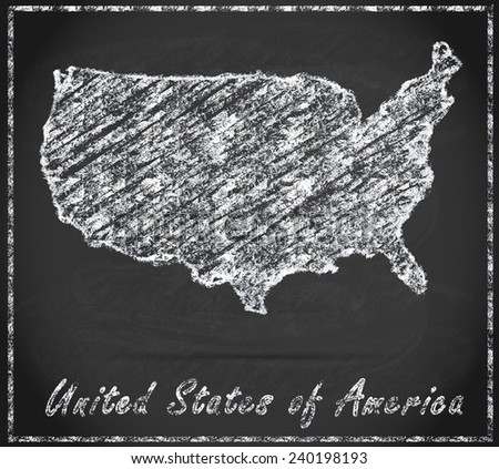 Map Usa Chalkboard Stock Illustration 240198193 Shutterstock