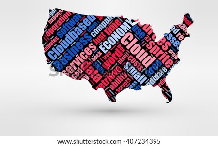 map usa theme economy global finance stock illustration 407234395