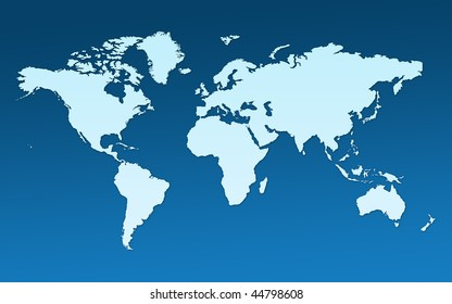 Map Whole World Images All Continents Stock Illustration 44798602 ...
