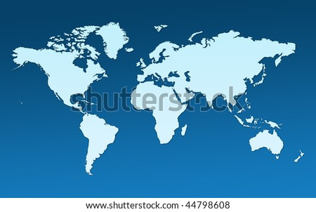 Map Whole World Images All Continents Stock Illustration 44798608 ...