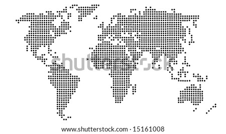 Royalty Free Stock Illustration of Map World Continents Made Black ...
