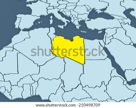 Map Worlds Libya 3 D Stockillustration 210498709 – Shutterstock