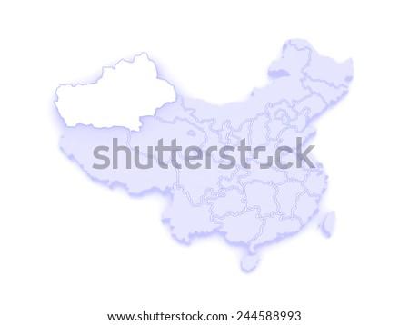 Map Xinjiang.Map Xinjiang Uygur China 3 D Stock Illustration Royalty Free Stock