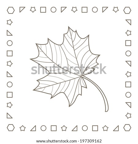 Royalty Free Stock Illustration Of Maple Leaf Coloring Page Coloring