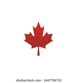 Mapple leaf on red canadian