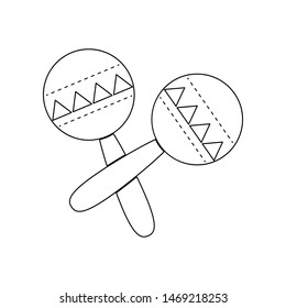 maracas, rumba shakers or shac-shacs musical instrument icon. Element of music instrument for mobile concept and web apps icon. Outline, thin line icon for website design and