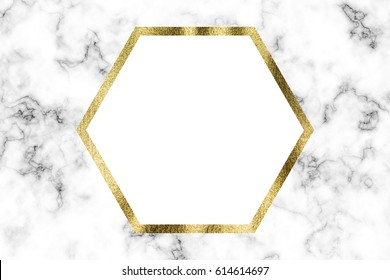 Marble and gold blank invitation card