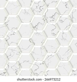 Marble hexagon seamless texture optimal use for background, floor, decorative stone and interior stone