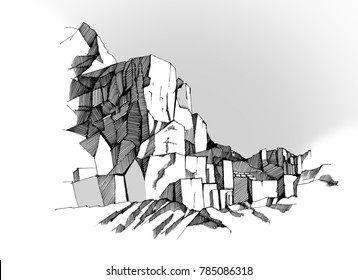 marble quarry sketch