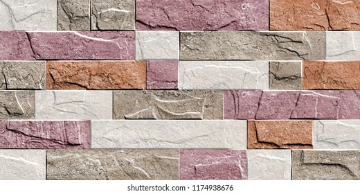 marble stacked stone wall and floor for kitchen and bath tile for print ,abstract texture background , fabric textile pattern for  abstract home decorative art oil paint wall