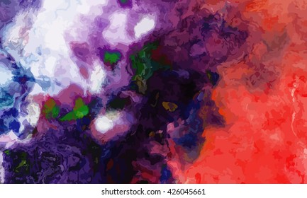 marble texture background. marble ink background. watercolor marble painting illustration in color violet and green and blue and red and black and purple.