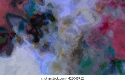 marble texture background. marble ink background. watercolor marble painting illustration in color blue and violet and purple and red and green and grey.