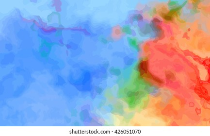 marble texture background. marble ink background. watercolor marble painting illustration in color red and pink and orange and green and blue and purple and violet.
