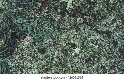 marble texture background. marble ink background. watercolor marble painting illustration in color dark green and some black lines.