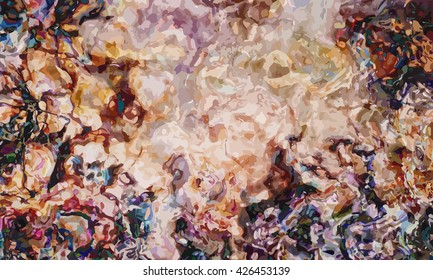 marble texture background. marble ink background. watercolor marble painting illustration in color brown and black and some blue.