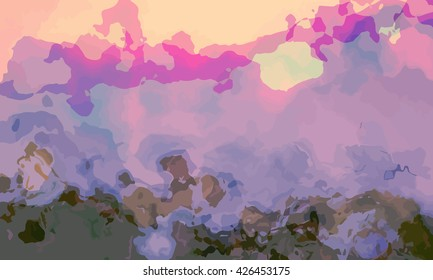 marble texture background. marble ink background. watercolor marble painting illustration in color purple and brown and yellow and orange.