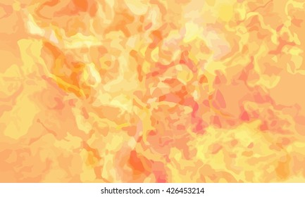 marble texture background. marble ink background. watercolor marble painting illustration in color yellow and orange.