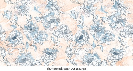 marble wall and floor for kitchen and bath tile for print , flower abstract texture  background , fabric textile pattern for indian saree  t-shirt design