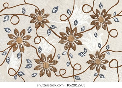 Wall Tiles Flowers Design Images Stock Photos Vectors