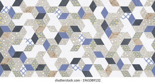 Marble wall and floor for kitchen and bath tile for print, flower abstract texture background, fabric textile pattern for saree t-shirt design , interior wall poster - Illustration