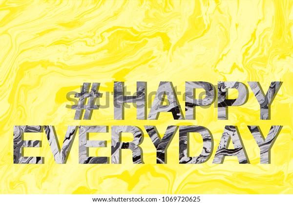 Marble Wording Happy Everyday Invitation Card Stock