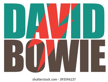 MARCH 19, 2016: David Bowie pop art illustrative editorial.