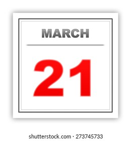 March 21. Day on the calendar. 3d