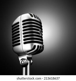 march 7, 2014:  Illustration of Shure 55SH, Vintage Elvis Microphone